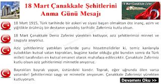 18 Mart Çanakkale Şehitlerini Anma Günü Mesajı - Hazır Mesajlar - Komikler Burada