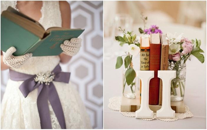 Decoración bodas libros