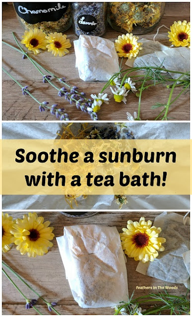 herbal bath tea, mixture of medicinal flowers and herbs