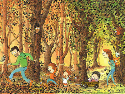 faire-part personnalisé, naissance, famille, forêt, Hélène Malric
