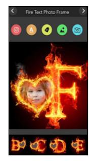 تطبيق Fire text photo