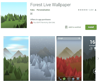 Forest Live wallpaper - top 5 useful android apps