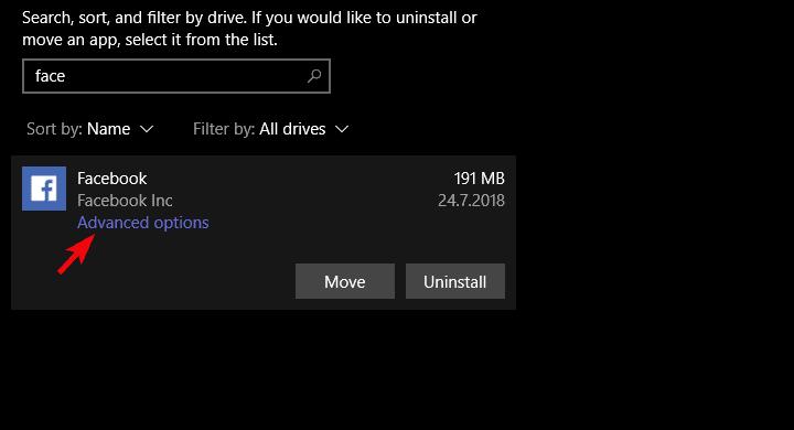 Facebook no funciona en Windows 10