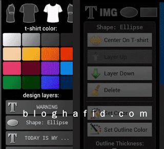 Aplikasi Android T-Shirt Designer