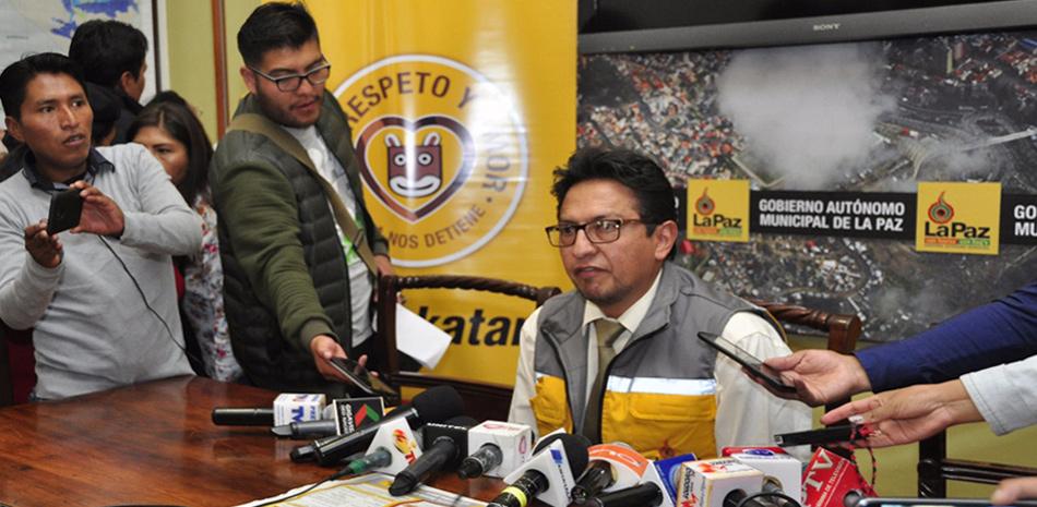 Secretario municipal de Movilidad del GAMLP, Ramiro Burgos