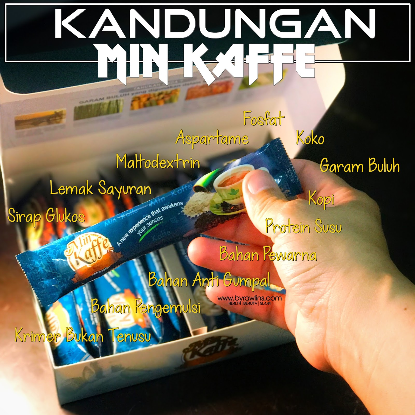 Min Kaffe, Mineral Coffee, Min Kaffe ingredients, Kopi Garam Buluh, Rawlins GLAM, Hanis Haizi Protege, Magnesium, Gila Kopi,