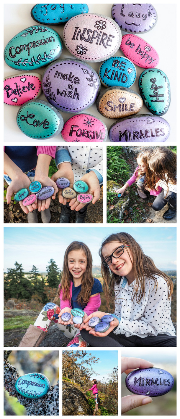 ideas for words to paint on rocks