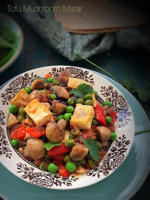 Tofu Mushroom Matar