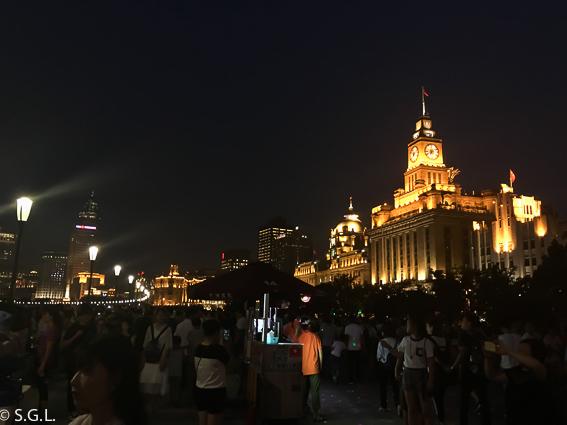 Bund de Shanghai. Vista nocturna