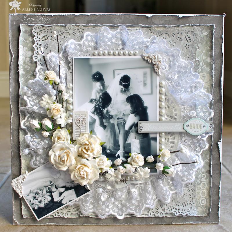 4e44e6421e5eb3 Butterfly Kisses   Paper Pretties  12x12 Wedding Scrapbook Layout ...