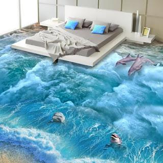 dekorasi kamar dengan gambar 3 dimensi