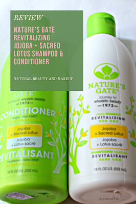 Review of Nature's Gate Jojoba & Sacred Lotus Revitalizing Shampoo and Conditioner for dry, fine hairon NBAM blog
