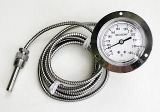 vapor actuated temperature indicator