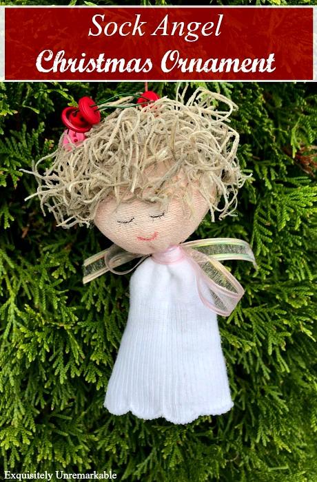 Sock Angel Christmas Craft