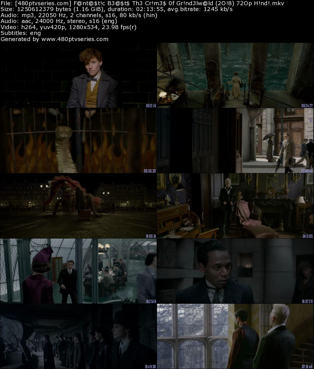 Download Fantastic Beasts The Crimes of Grindelwald (2018) 1Gb Full Hindi Dual Audio Movie Download 720p Web-DL Free Watch Online Full Movie Download Worldfree4u 9xmovies