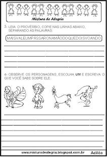 Atividades sobre o folclore brasileiro