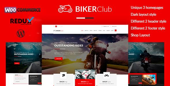 Download Biker Club - WordPress theme Free