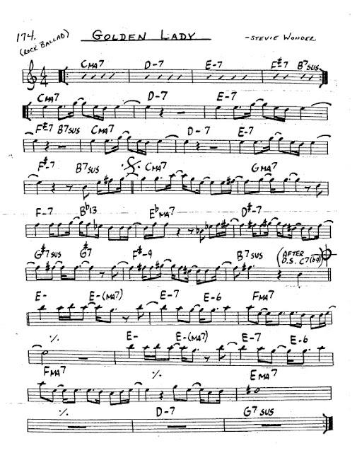 Partitura Saxofón Stevie Wonder