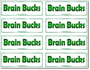 Classroom freebies brain bucks freebie for Classroom bucks template