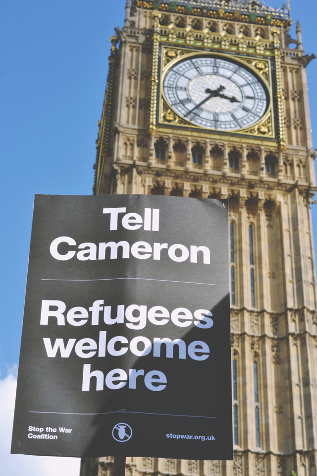 Refugee rally at Parliament Square London