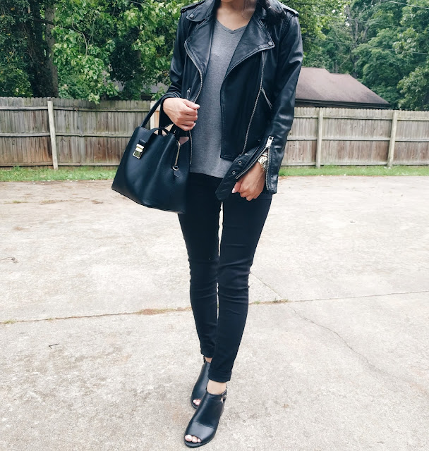all saints leather jacket forever 21 open toe booties