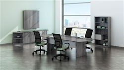 Gray Wood Conference Table