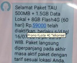 Cara Daftar Paket Kuota Telkomsel 10GB Hanya 59RB