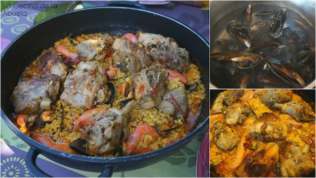 Paella Chiringuito Veraniega Receta Ingredientes plato pasos