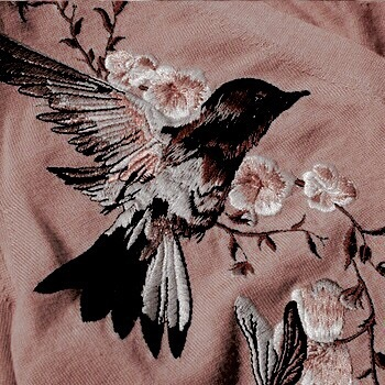 Embroidery bird | Happy Weekend 34 images of inspiration in rose gold {Cool Chic Style Fashion}