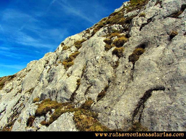 Ruta Farrapona, Albos, Calabazosa: Último tramo a la arista oeste del Calabazosa.