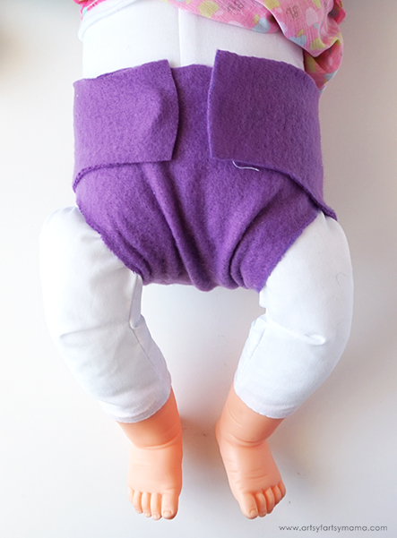 Free No-Sew Baby Doll Diaper Pattern for Baby's First Air Baby
