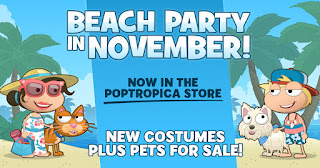 Free on the Poptropica app: Beach party and more pets!
