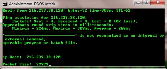 Tutorial DDoS Website dengan Script DDoS Notepad 5