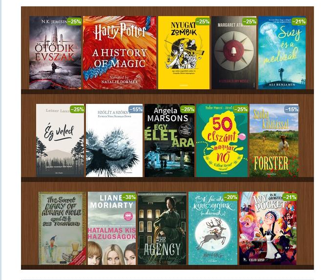 Harry Potter - A History of Magic · Csepella Olivér  Nyugat + Zombik ·  Margaret Atwood  A szolgálólány meséje · Ali Benjamin  Suzy és a medúzák a06cf1584c