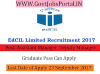 Educational Consultants India Limited Recruitment 2017- Assistant Manager, Deputy Manager