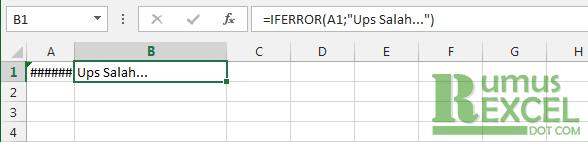 Contoh Rumus / Fungsi IFERROR Excel