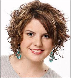potongan rambut curly untuk wanita gemuk