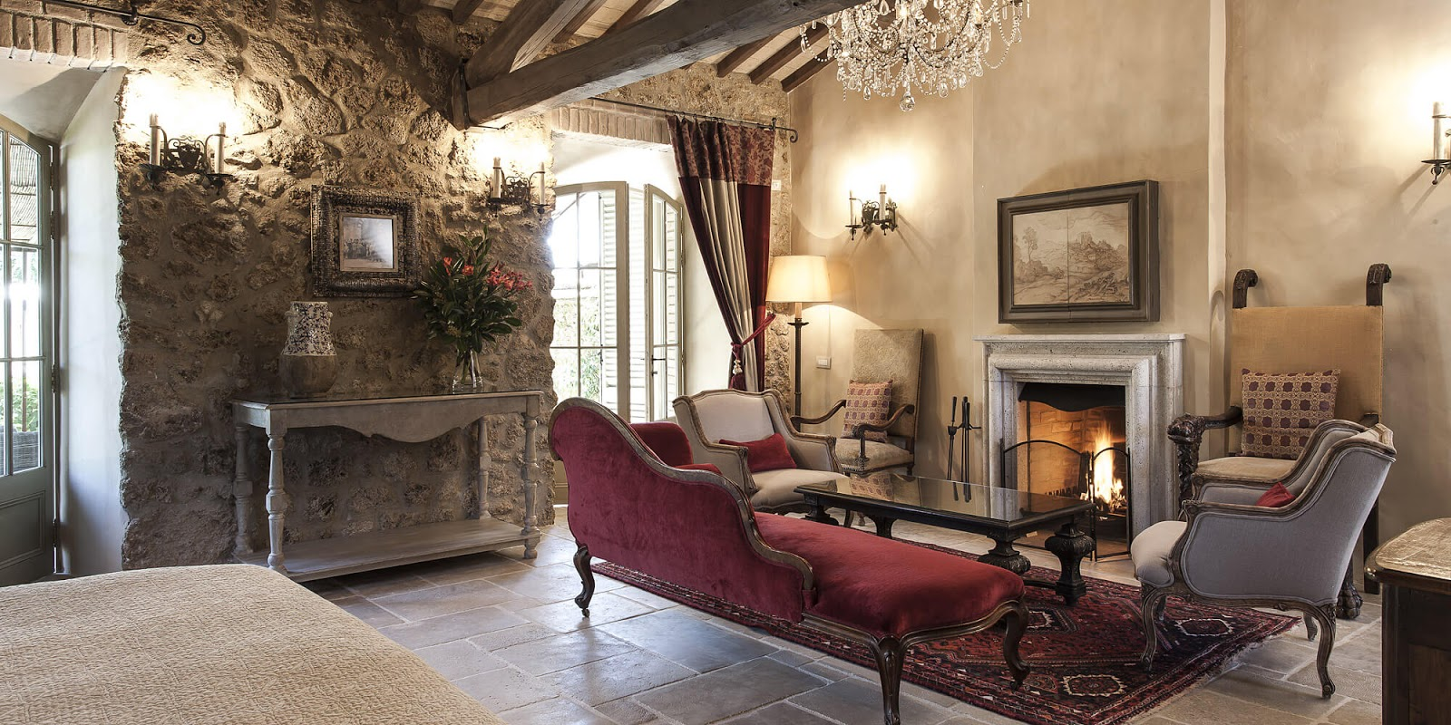 Breathtaking suite at the Italian villa Borgo Santo Pietro - found on Hello Lovely Studio