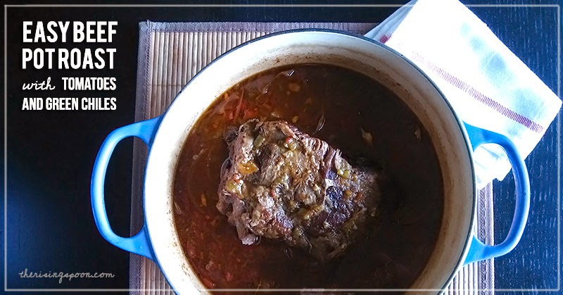 Slow Cooked Beef Pot Roast with Tomatoes and Green Chiles