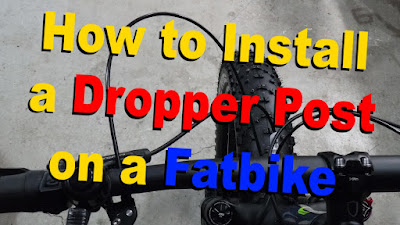 How to install a dropper post on a fatbike