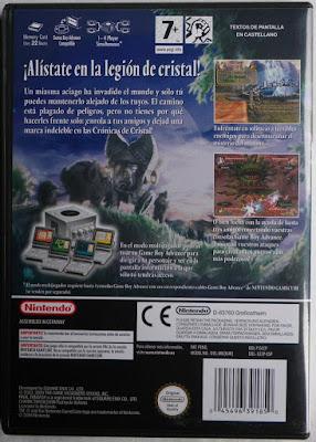 Final Fantasy Crystal Chronicles - Caja plástico detrás