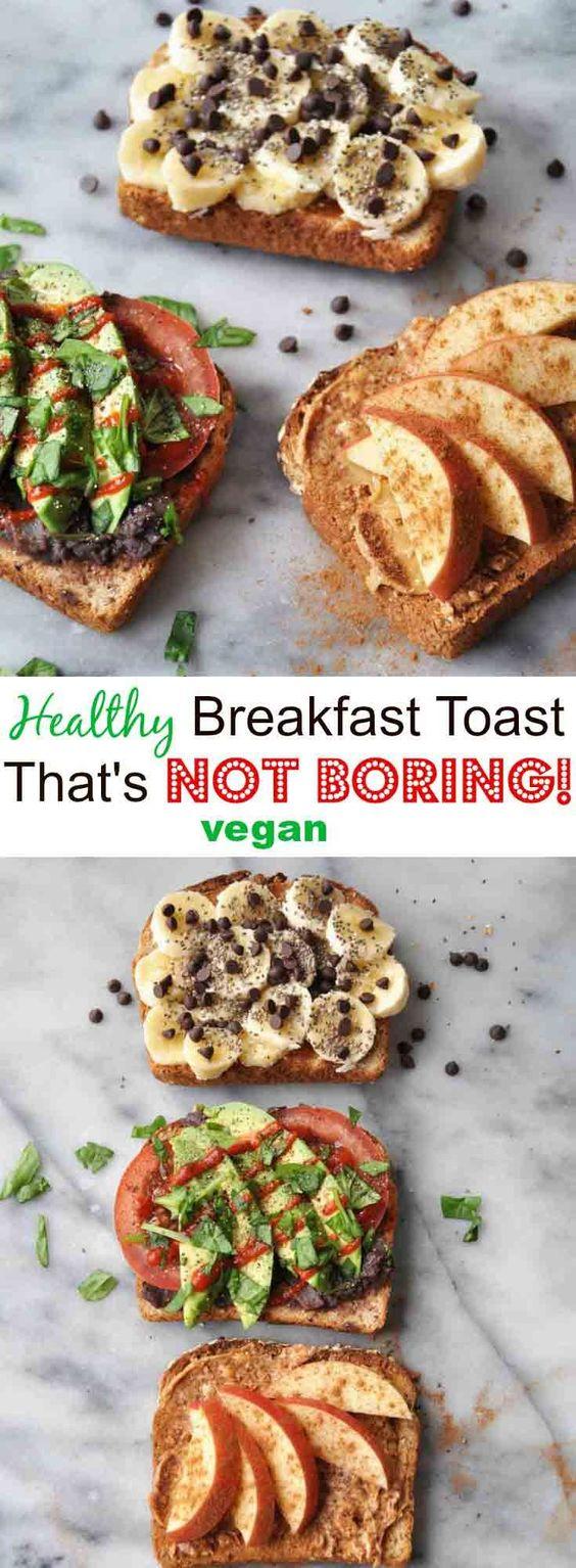 Simple Healthy Vegan Breakfast Toast