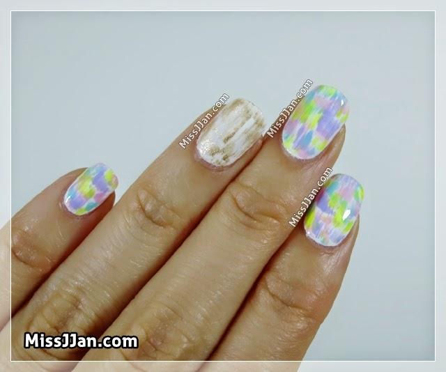 MissJJan's Beauty Blog ♥: EASY ♥ Pastel Drybrush Nail Art