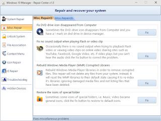 برنامج معالجة اخطاء ويندوز 10
