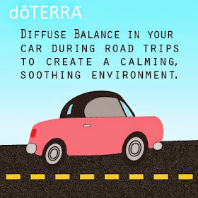 Diffuse Balance in your car during road trips to create a calming, soothing environment :: OrganizingMadeFun.com