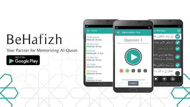 BeHafizh Aplikasi untuk Penghafal Al Quran by Santrie Salafie