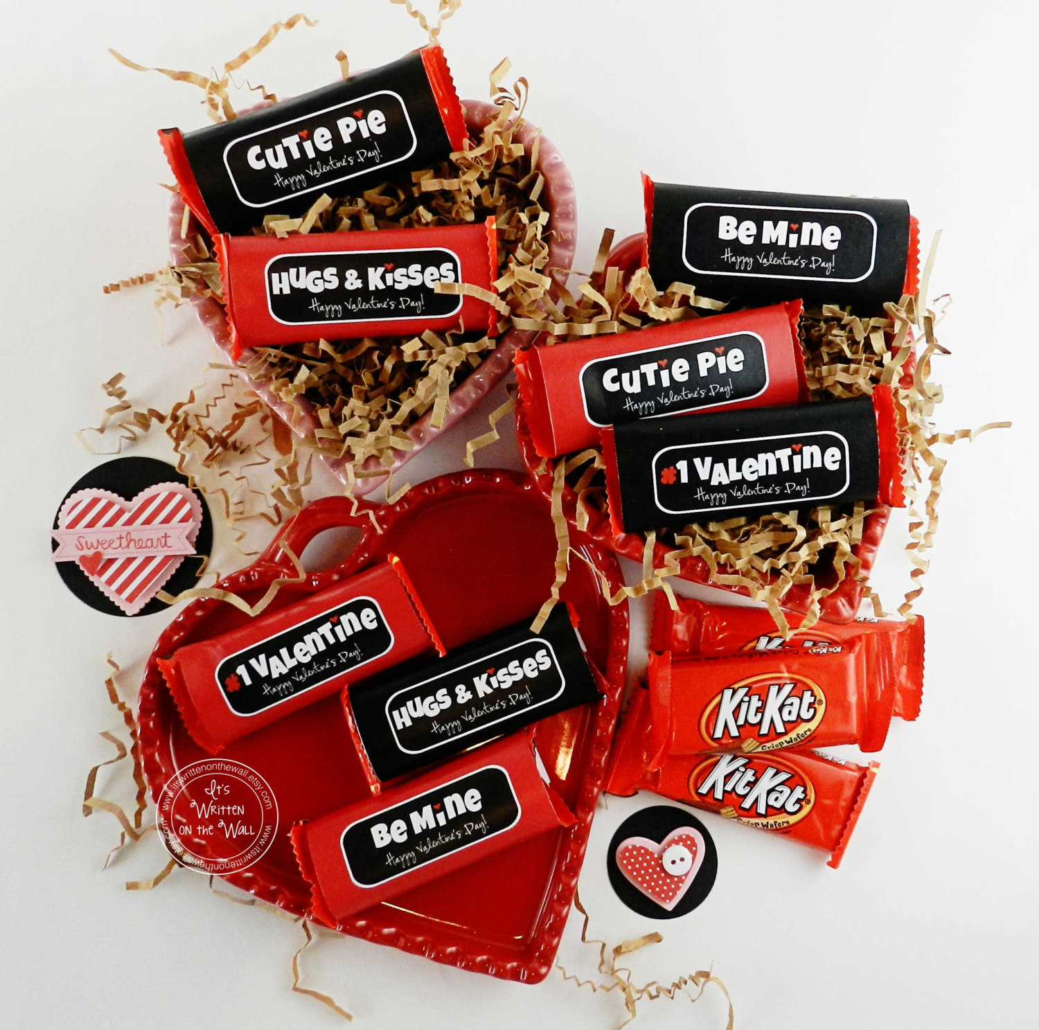 Wrap up some Snack Size Candy Bars for Valentine Treats