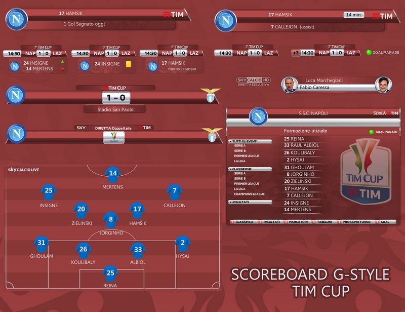 PES 2017 SCOREBOARD TIM CUP BY G-STYLE