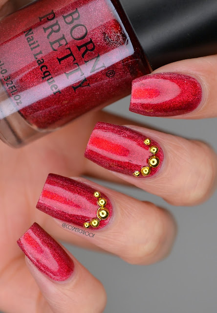 Born Pretty Red Holo Swatch in Gamma Ray