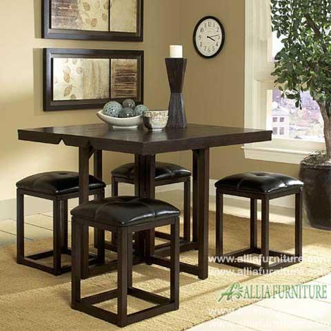 kursi meja makan minimalis set cleo